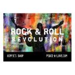 Revolución de la roca y del rollo plantilla de tarjeta de visita