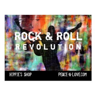 Revolución de la roca y del rollo tarjetas postales