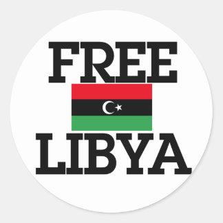 Revolución de Libia Pegatina Redonda