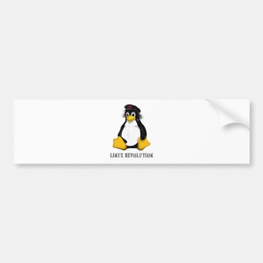 Revolución de Linux Pegatina Para Auto