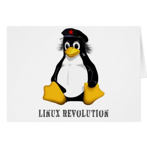 Revolución de Linux Tarjeta De Felicitación