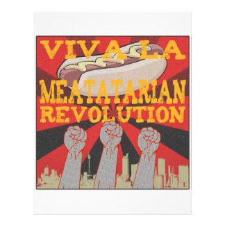 Revolución de Meatatarian del la de Viva Tarjetas Informativas