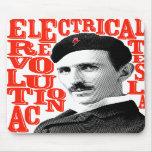 Revolución de Nikola Tesla Alfombrilla De Ratones
