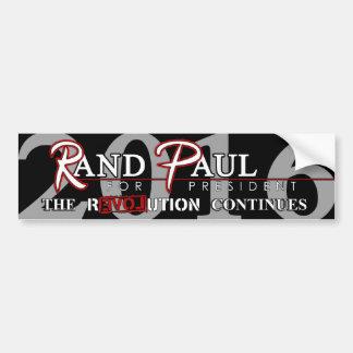 Revolución de Paul 2016 del rand (versión A) Etiqueta De Parachoque