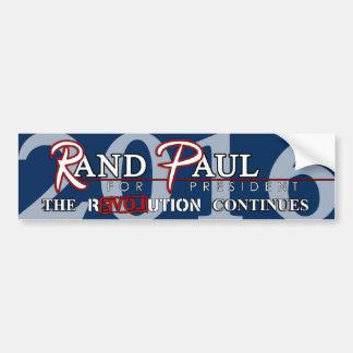 Revolución de Paul 2016 del rand (versión E) Pegatina De Parachoque