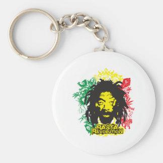 Revolución de Rastafarian Llavero Redondo Tipo Pin