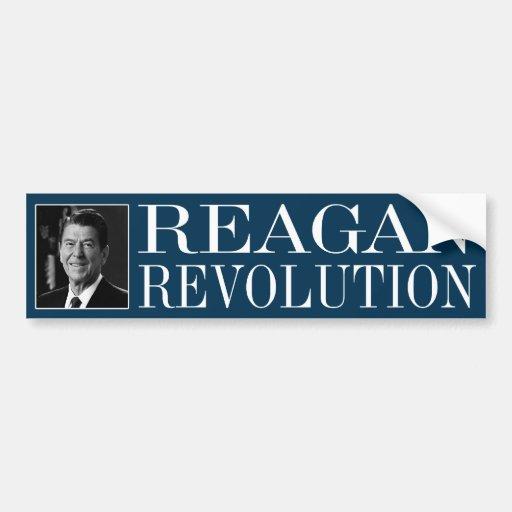 Revolución de Reagan Etiqueta De Parachoque