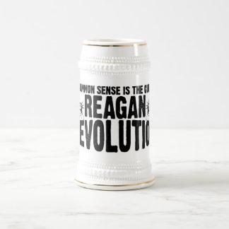 Revolución de Reagan Jarra De Cerveza