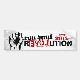 Revolución de Ron Paul 2012 Etiqueta De Parachoque