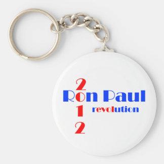 Revolución de Ron Paul 2012 Llavero Redondo Tipo Pin