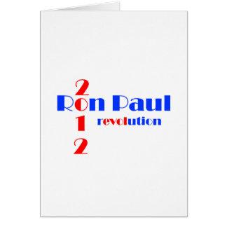 Revolución de Ron Paul 2012 Tarjeta De Felicitación