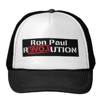 revolución de Ron Paul en camisa oscura Gorros Bordados