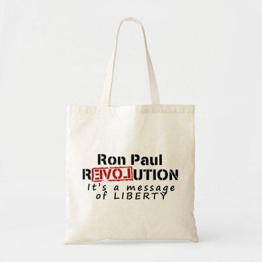 Revolución de Ron Paul es un mensaje de la liberta Bolsa Tela Barata
