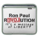 Revolución de Ron Paul es un mensaje de la liberta Manga De iPad