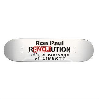 Revolución de Ron Paul es un mensaje de la liberta Tablas De Skate
