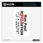 Revolución de Ron Paul es un mensaje de la liberta iPod Touch 4G Skin