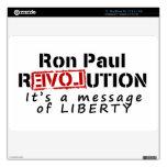 Revolución de Ron Paul es un mensaje de la liberta Calcomanía Para El MacBook Air