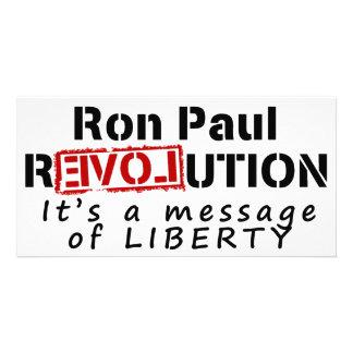 Revolución de Ron Paul es un mensaje de la liberta Tarjeta Con Foto Personalizada