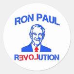 Revolución de Ron Paul Etiqueta Redonda