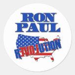 Revolución de Ron Paul Etiquetas Redondas