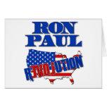 Revolución de Ron Paul Felicitacion