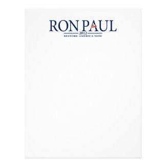 Revolución de Ron Paul Membrete Personalizado