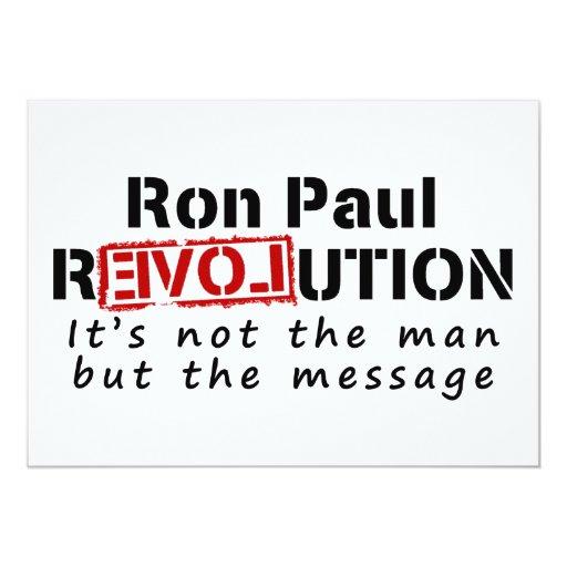 Revolución de Ron Paul no el hombre sino el Anuncio Personalizado