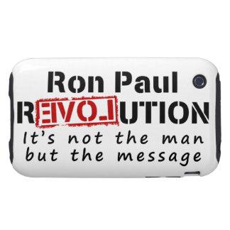 Revolución de Ron Paul no el hombre sino el iPhone 3 Tough Carcasas