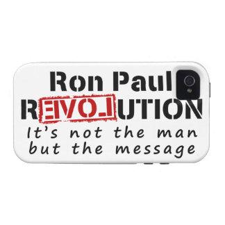 Revolución de Ron Paul no el hombre sino el iPhone 4/4S Fundas