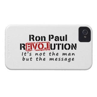 Revolución de Ron Paul no el hombre sino el iPhone 4 Case-Mate Coberturas