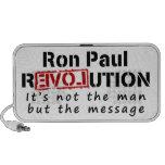 Revolución de Ron Paul no el hombre sino el mensaj Notebook Altavoces