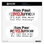 Revolución de Ron Paul no el hombre sino el mensaj PSP Skins