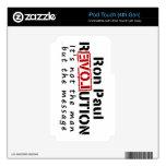Revolución de Ron Paul no el hombre sino el mensaj iPod Touch 4G Skins