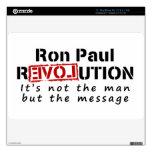 Revolución de Ron Paul no el hombre sino el mensaj Calcomanías Para MacBook Air