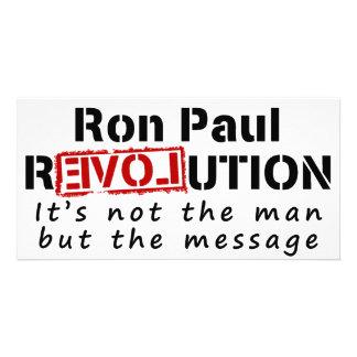Revolución de Ron Paul no el hombre sino el mensaj Tarjetas Fotograficas