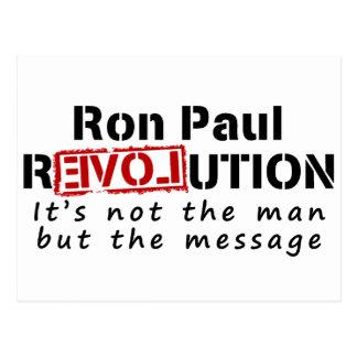 Revolución de Ron Paul no el hombre sino el Tarjeta Postal