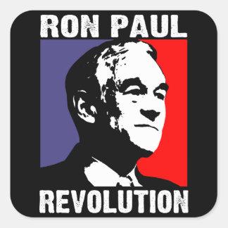 Revolución de Ron Paul Calcomania Cuadradas
