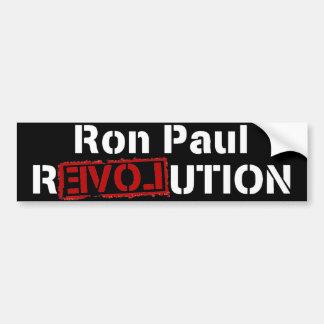 Revolución de Ron Paul Pegatina Para Auto