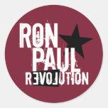 Revolución de Ron Paul Pegatina Redonda