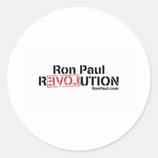 Revolución de Ron Paul Pegatinas Redondas