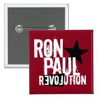 Revolución de Ron Paul Pin Cuadrado