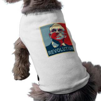 Revolución de Ron Paul Playera Sin Mangas Para Perro