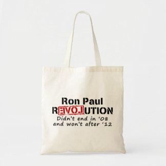 Revolución de Ron Paul que no terminó en '08 Bolsa Lienzo