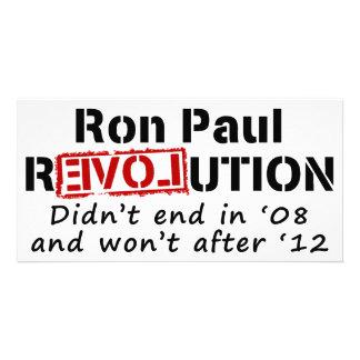 Revolución de Ron Paul que no terminó en 08 Tarjeta Fotografica Personalizada