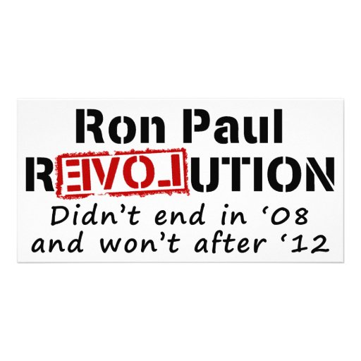 Revolución de Ron Paul que no terminó en '08 Tarjeta Fotografica Personalizada
