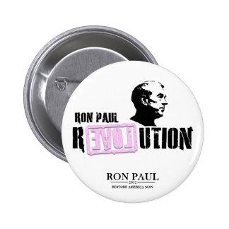 Revolución de Ron Paul - rosa Pin Redondo 5 Cm