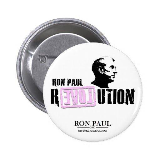 Revolución de Ron Paul - rosa Pin Redondo De 2 Pulgadas