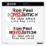 Revolución de Ron Paul una idea cuya ha venido hor Calcomanías Para El PSP