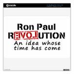 Revolución de Ron Paul una idea cuya ha venido hor Calcomanía Para MacBook