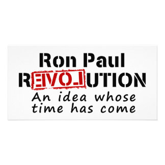 Revolución de Ron Paul una idea cuya ha venido hor Tarjeta Personal Con Foto